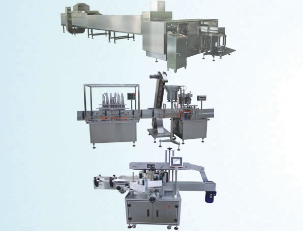 Small packing of oil filling production line